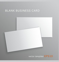 Blank business card vector image
