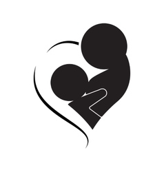 Breastfeeding logo isolated vector