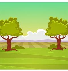 Cartoon Landscape vector image vector image
