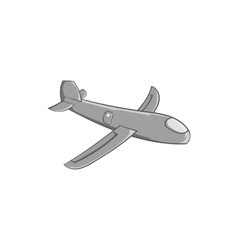 Childrens plane icon black monochrome style vector