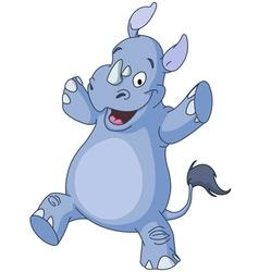Dancing rhino vector