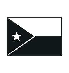 Djibouti flag monochrome on white background vector image vector image