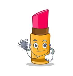 Doctor lipstick character cartoon style vector