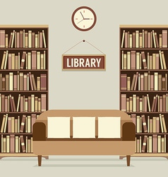 Empty Reading Seat In Library vector image