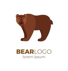 Flat bear logo vector image vector image