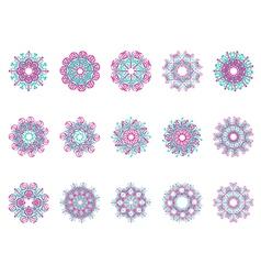 Flower motif vector image