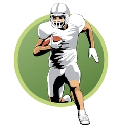 Football player running with the ball vector image