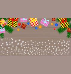gift boxes and christmas balls vector image vector image