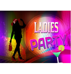 girls party poster or flyer vector image
