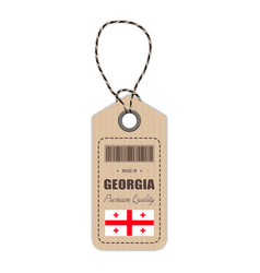 hang tag made in georgia with flag icon isolated vector image vector image
