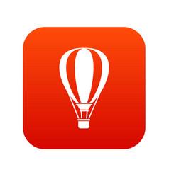 Hot air ballon icon digital red vector