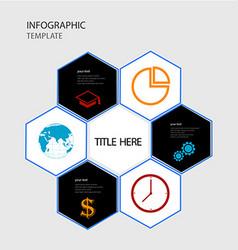 infographics polygonal options template vector image vector image