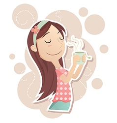 inhale tea vector image