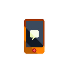 Isolated message flat icon chatting vector