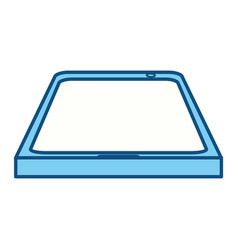 isolated smart tablet vector image vector image