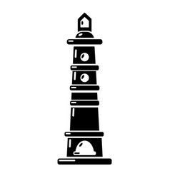 navigate tower icon simple style vector image