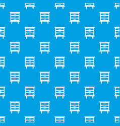 Nightstand pattern seamless blue vector