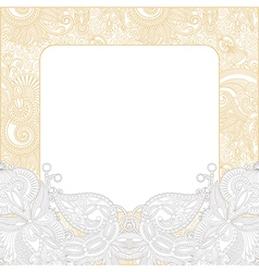 Ornate floral background invitation vector