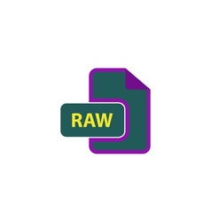 RAW Icon vector image