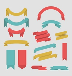 Ribbons collection vector image vector image