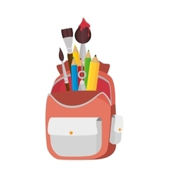 school bag equipment icon vector image vector image