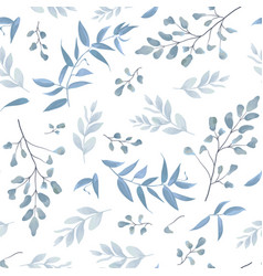 Seamless pattern background floral blue print vector