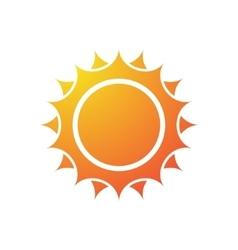 Sun silhouette vector