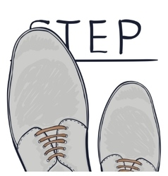 The business concept take the next step Feet on vector image