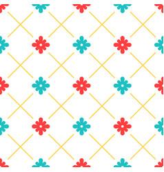 white turkish ornamental ceramic tile vector image