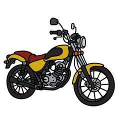 Yellow light motorbike vector image vector image