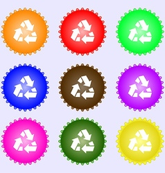 Recycle icon sign Big set of colorful diverse vector image