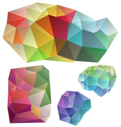 Colorful geometric design elements vector