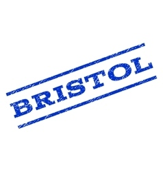 Bristol watermark stamp vector