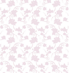 floral rose silhouette seamless pattern ready to vector image