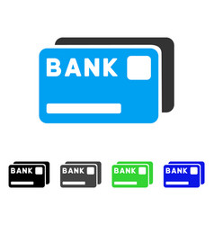 Bank cards flat icon vector