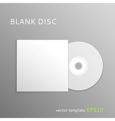 Blank disc vector image