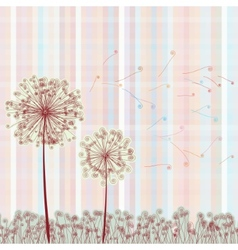 Abstract colorful dandelion EPS 8 vector image