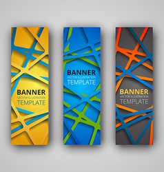 A set of modern banners vector