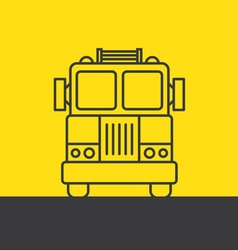 fire truck silhouette vector image