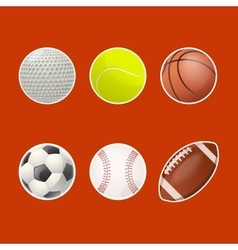 Collections of balls for play vector