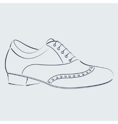 Sketched man s shoe vector