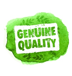 Genuine guality organic eco label vector