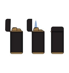 Cigar lighter in different states vector