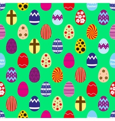 Colorful easter eggs design seamless pattern eps10 vector