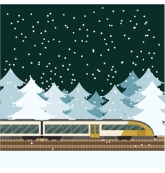 Train in the forest banner vector