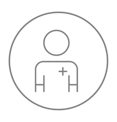 Nurse line icon vector