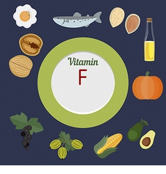 Vitamin f infographic vector