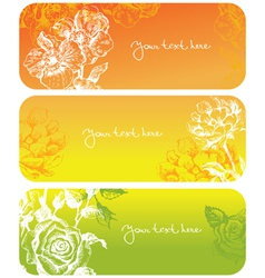 Flower banners vector
