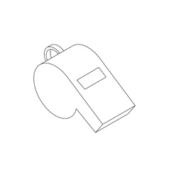 Whistle icon isometric 3d style vector