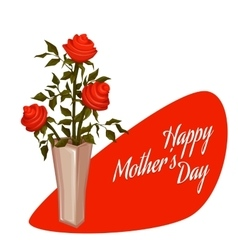 Happy Mother Day with bouquet vector image